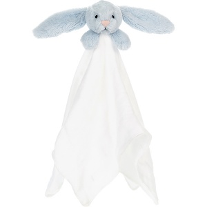 Bashful Blue Bunny Muslin Soother