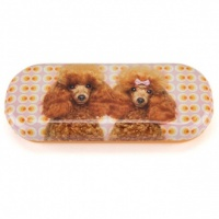 Poodle Love Glasses Case