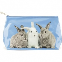 Rabbits on Blue Small Bag