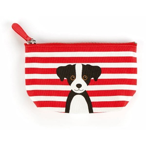 Red Cotton Dog Small Pouch