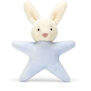 Star Bunny Blue Rattle