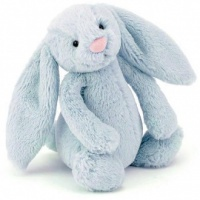 Bashful Blue Bunny Rattle