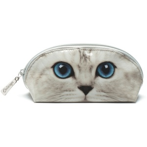 Silver Kitty Oval Bag