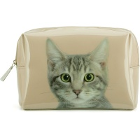 Tabby on Taupe Large Beauty Bag