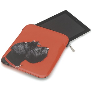 Terrier on Red iPad Sleeve