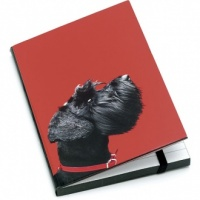 Terrier on Red A6 Notebook