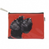 Terrier on Red Flat Bag