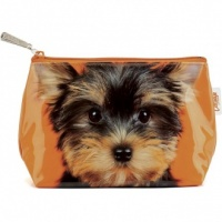 Yorkie on Orange Small Bag