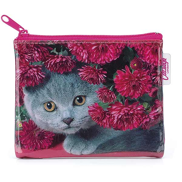 Cat with Flowers Coin Purse