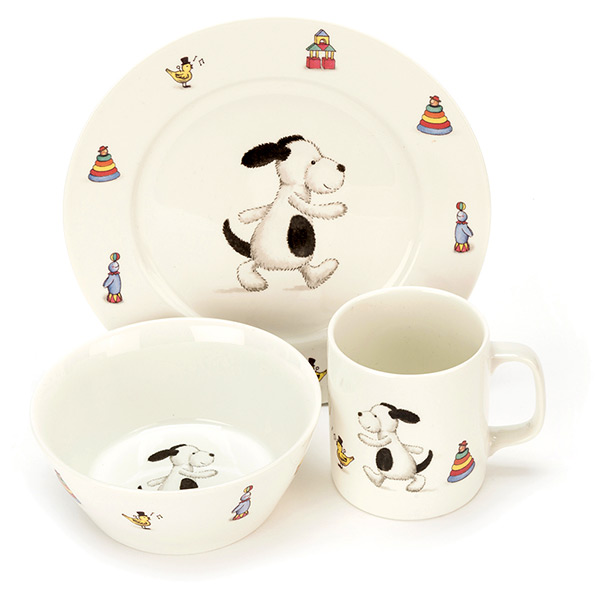 Bashful Puppy Ceramic Bowl Set