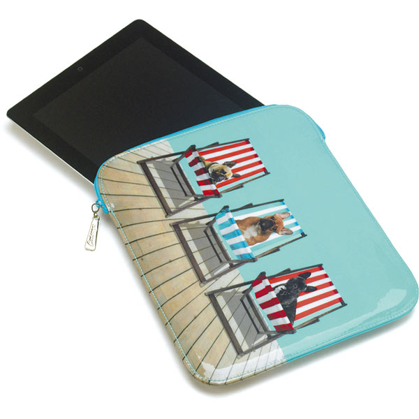 Deckchair Dogs iPad Sleeve