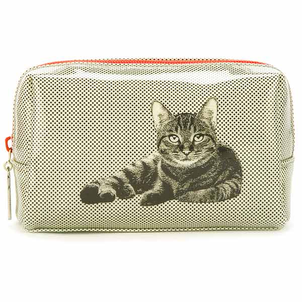Etching Cat Beauty Bag