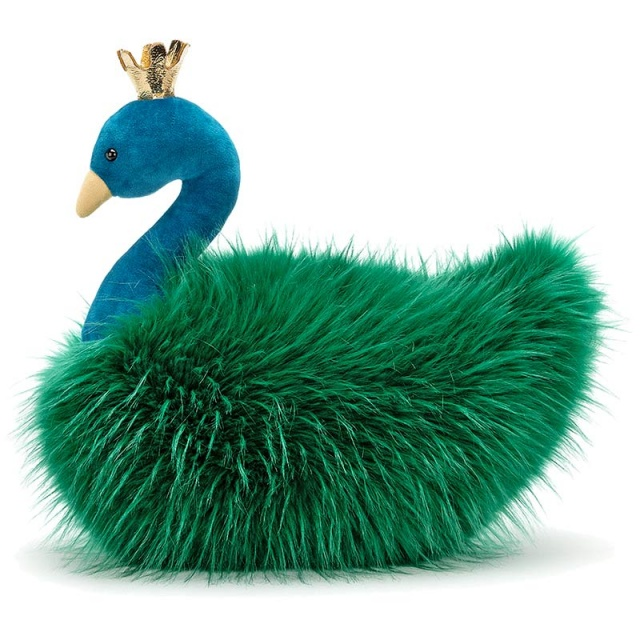 Fancy Peacock Fluffy Cushion