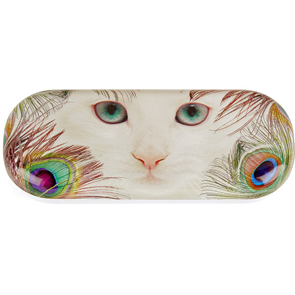 Feather Cat Glasses Case