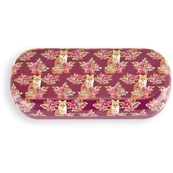 Fox Print Glasses Case