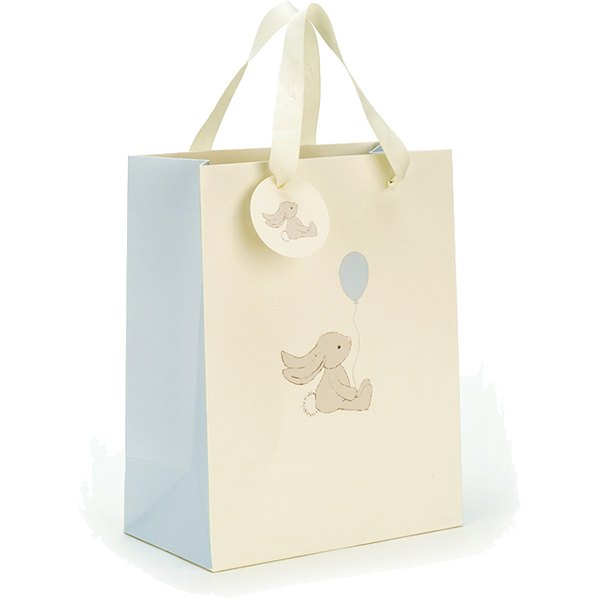 Jellycat Bashful Blue Bunny Gift Bag