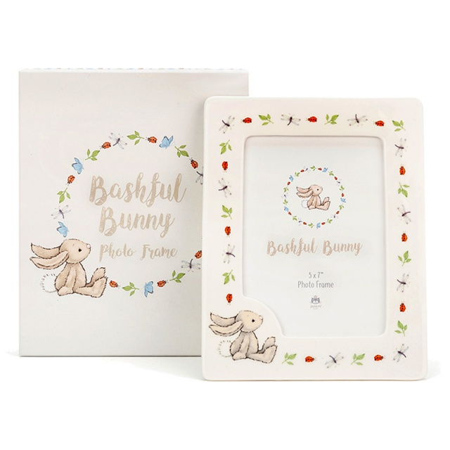 Bashful Bunny Ceramic Photo Frame
