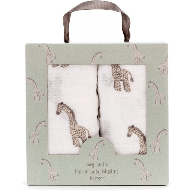 Joey Giraffe Muslin Cloths