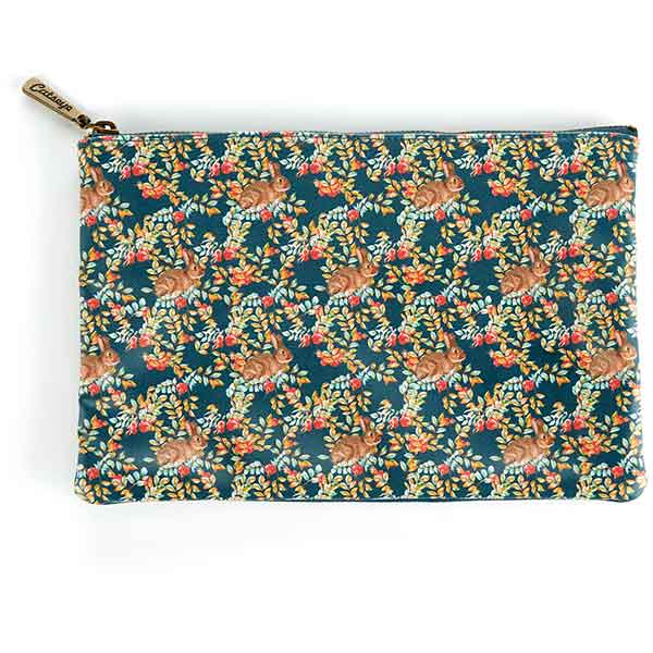 Rabbit Print Large Flat Bag