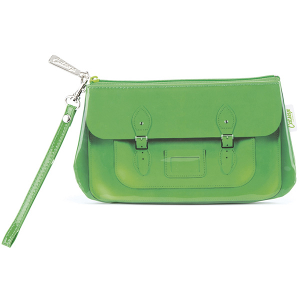 Green Satchel Wristlet