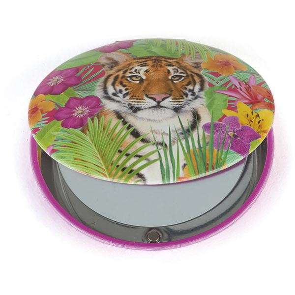 Tiger Lily Clam Mirror