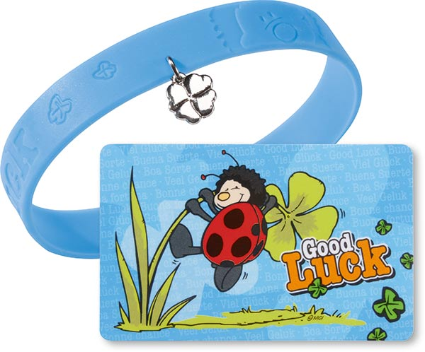 Ladybird Lucky Card with Bracelet