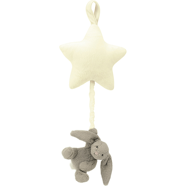 Bashful Beige Bunny Star Musical Pull