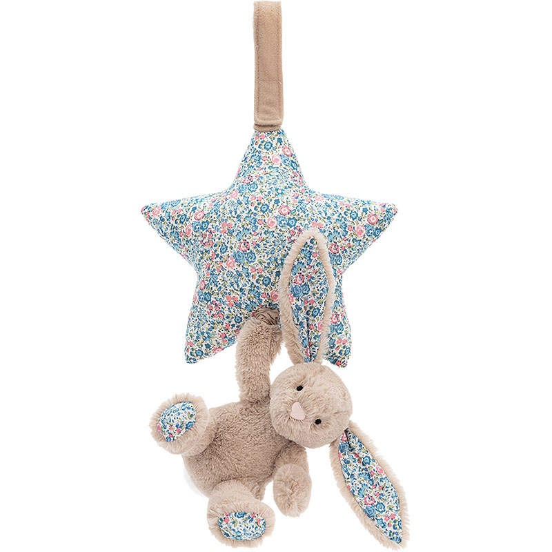 Blossom Beige Bunny Star Musical Pull