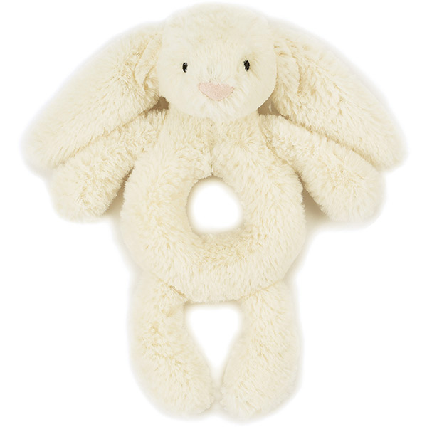 Bashful Cream Bunny Grabber Rattle
