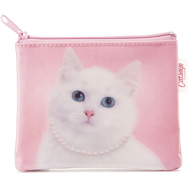 Cat with Pearl Necklace Coin Purse