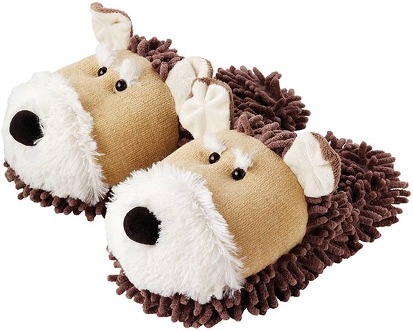 aabe154df60 Aroma Home - Fuzzy Friends Dog Slippers