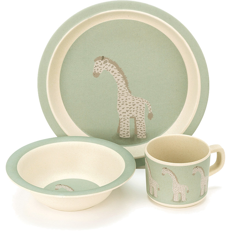 Joey Giraffe Bamboo Bowl Set