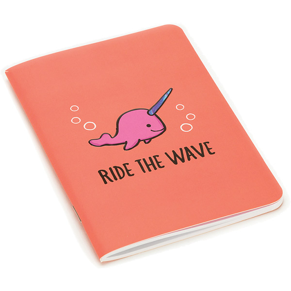Seas the Day Coral A6 Notebook