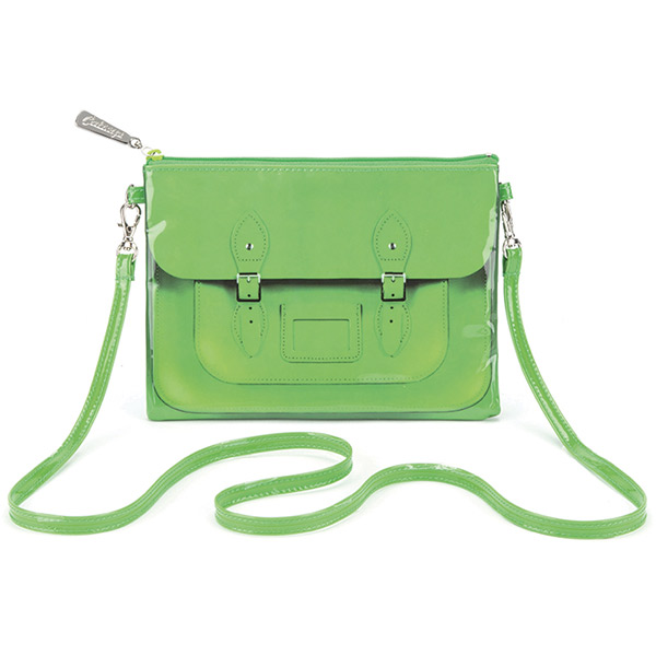 Green Satchel Cross Body Bag