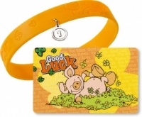 Pig Lucky Card with Bracelet