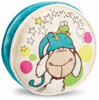 Jolly Sleepy Sheep Cushion - Circular