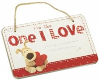 For the One I Love Wooden Plaque