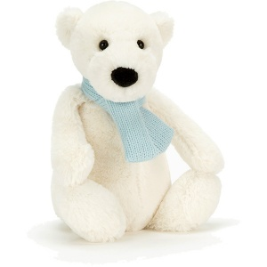 Bashful Winter Polar Bear