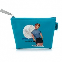 Blue Glamour Girl Zip Purse