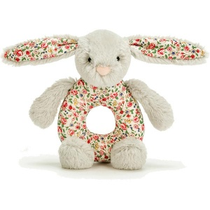 Blossom Silver Bunny Grabber Rattle