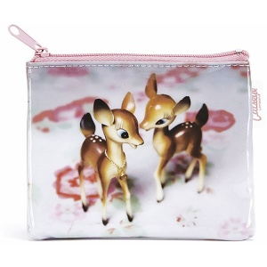 Deer on Rose Coin Purse