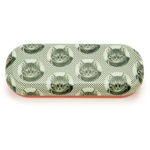 Etching Cat Glasses Case