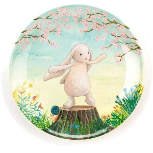 My Friend Bunny Melamine Plate