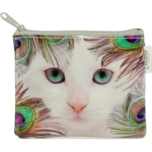 Feather Cat Coin Purse