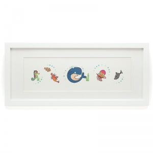Sea Tails Framed Print