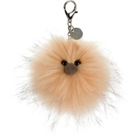 Just Peachy Pompom Bag Charm