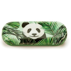 Panda in Palms Glasses Case