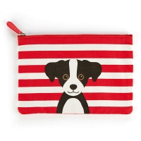 Red Cotton Dog Large Flat Bag