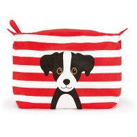Red Cotton Dog Wash Bag