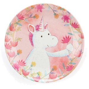 Magical Unicorn Dreams Melamine Plate